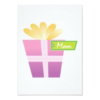 Présent de jour de mères carton d'invitation  12,7 cm x 17,78 cm