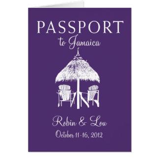 Présent de voyage d'anniversaire de passeport de carte de correspondance