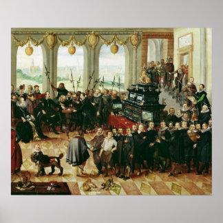Présentation à duc Phillip II Posters