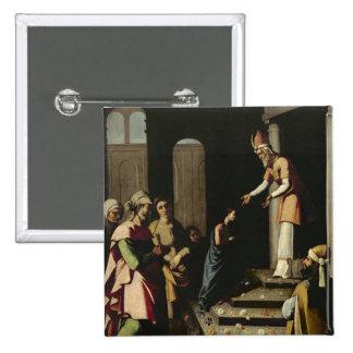 Présentation de la Vierge dans le temple Badge Carré 5 Cm
