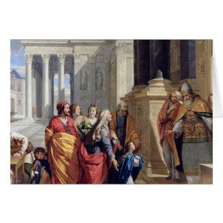 Présentation de la Vierge dans le temple Carte De Vœux