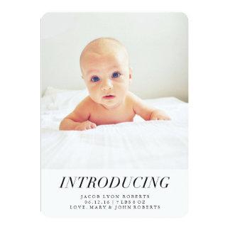Présentation des annonces modernes de naissance de carton d'invitation  12,7 cm x 17,78 cm