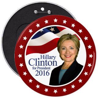 Président 2016 bouton de Hillary Clinton TOUTE Badge