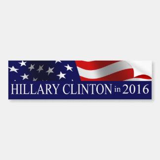 Président 2016 de Hillary Clinton Autocollant Pour Voiture