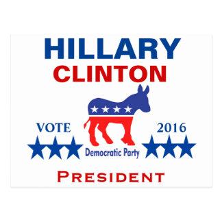 Président 2016 de Hillary Clinton Carte Postale