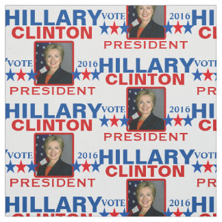 Président 2016 de Hillary Clinton Tissu