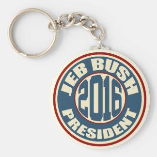 Président 2016 de Jeb Bush Porte-clé Rond