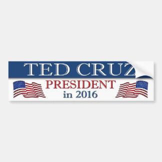 Président 2016 de Ted Cruz patriote Autocollant Pour Voiture