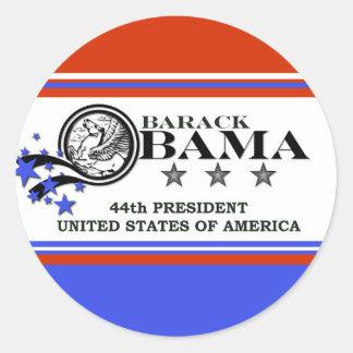 Président de Barack Obama quarante-quatrième Autocollant Rond