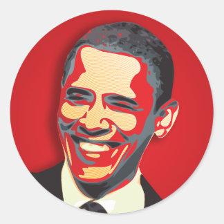 Président de Barack Obama quarante-quatrième Adhésifs Ronds