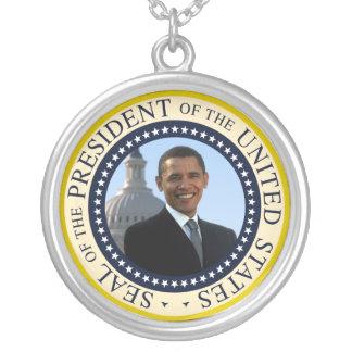 Président de Barack Obama quarante-quatrième du jo Pendentif Rond