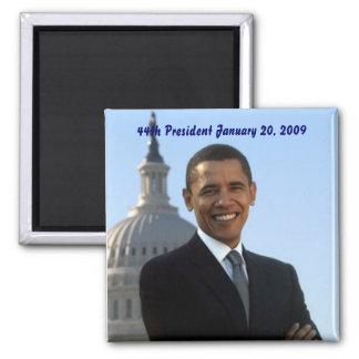 président de Barack Obama quarante-quatrième Magnet Carré