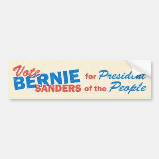 Président de ponceuses de Bernie des personnes V5 Autocollant De Voiture