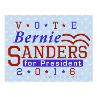 Président de ponceuses de Bernie élection 2016 Carte Postale