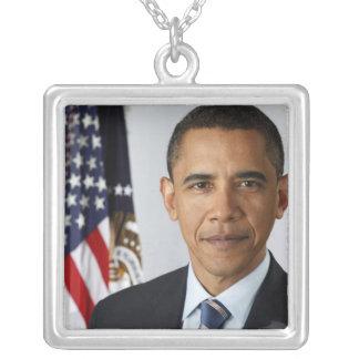 Président des États-Unis de Barack Obama quarante- Pendentif Carré