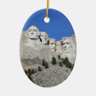 Présidents Etats-Unis Amérique du mont Rushmore le Ornement Ovale En Céramique