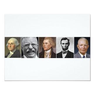 Présidents passés carton d'invitation 10,79 cm x 13,97 cm