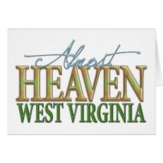Presque ciel Virginia_2 occidental Carte De Vœux