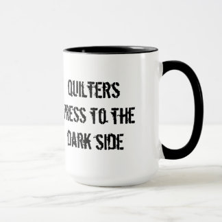 Presse de Quilters au côté en noir Tasses