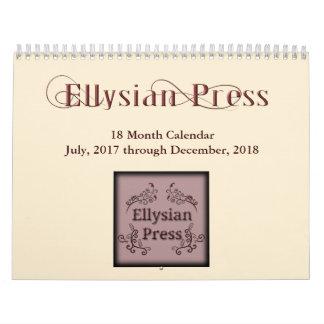 Presse d'Ellysian calendrier de 18 mois