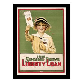 Prêt de liberté d'entraînement de 1918 ressorts carte postale