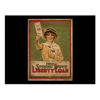 Prêt de liberté d'entraînement de 1918 ressorts cartes postales
