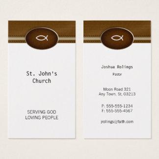 Prêtre du pasteur | du chrétien | cartes de visite