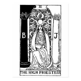 prêtresses de carte de tarot hautes ' cartes postales