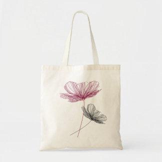 Pretty flower line drawing sac