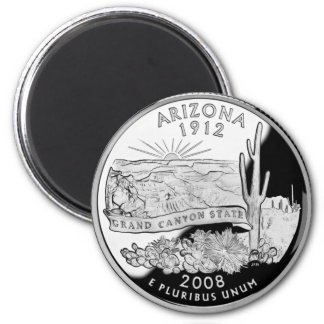 Preuve 2008 de canyon grand de l'Arizona Magnet Rond 8 Cm