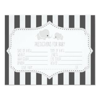 Prévisions de bébé - carte de jeu de baby shower