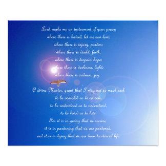 Prière d'affiche de Francis de saint Impression Photo