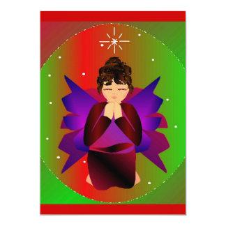 Prière de bébé d'ange de Noël Faire-parts