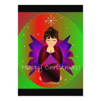 Prière de bébé d'ange de Noël heureux Bristols