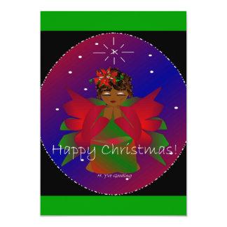 Prière de bébé d'ange de Noël heureux Faire-parts