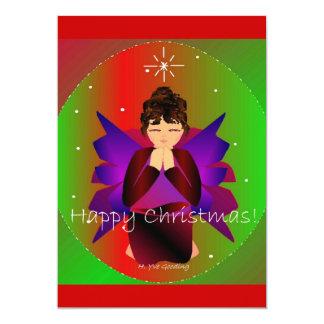 Prière de bébé d'ange de Noël heureux Faire-part Personnalisé