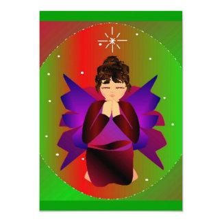Prière de bébé d'ange de Noël Invitations