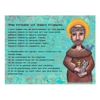 Prière de carte postale de St Francis