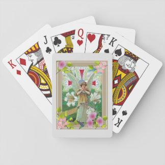 Prière de croix et d'ange cartes à jouer