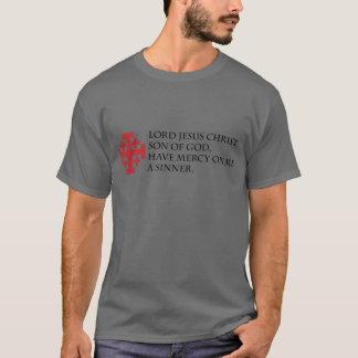 Prière de Jésus avec la croix de Jérusalem T-shirt