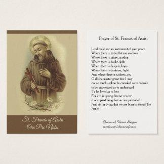 Prière de St Francis de carte sainte d'Assisi