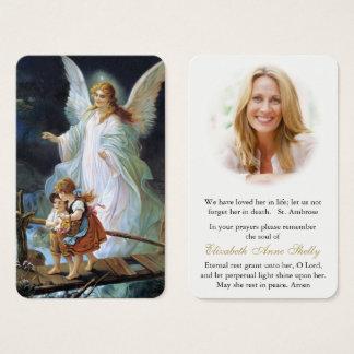Prière funèbre 1 d'ange de la carte | de prière