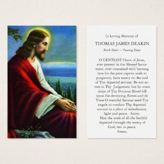Prière funèbre de Jésus-Christ de la carte   de