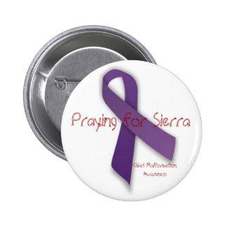Prière pour la sierra badge rond 5 cm