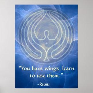 Prière Rumi et art poétique Poster