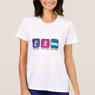 Priez, courez, des repos-dames t-shirt