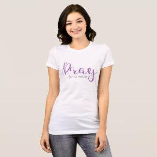 Priez le T-shirt pourpre de scintillement