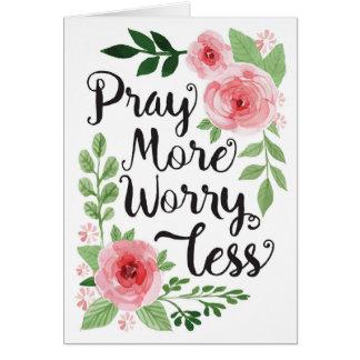 Priez plus, inquiétude moins, carte