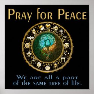 Priez pour la paix posters