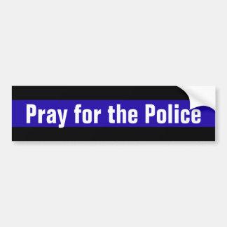 Priez pour la police autocollant de voiture